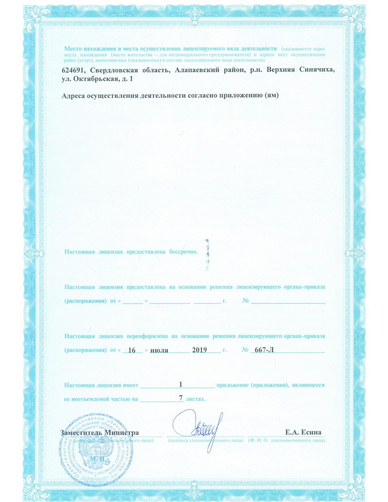 Лицензия лист №2